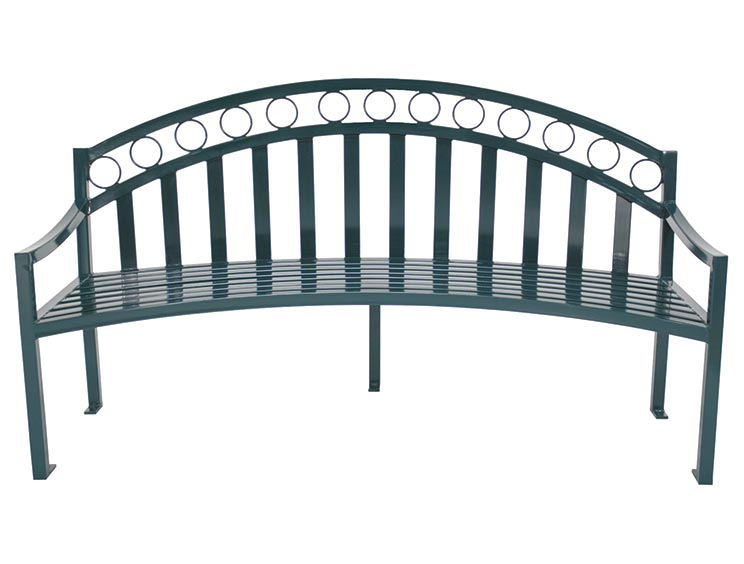 ATLANTA CURVED BENCH WITH BACK