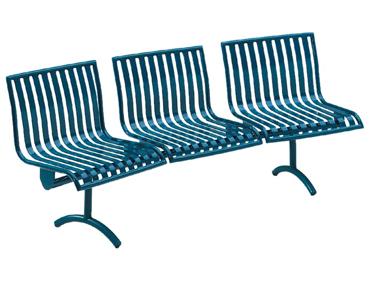 PULLENIUM MODULAR CURVED BENCH WITH BACK