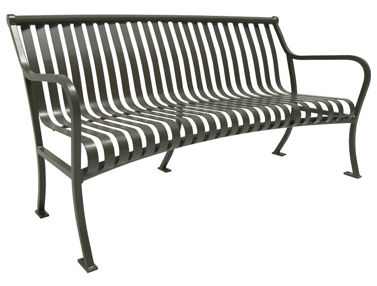 PULLMAN CURVED BENCH WITH BACK