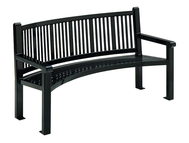 READING CURVED BENCH WITH BACK