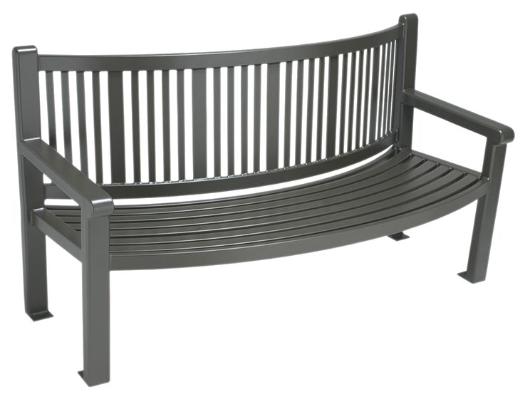 READING REVERSE CURVED BENCH WITH BACK