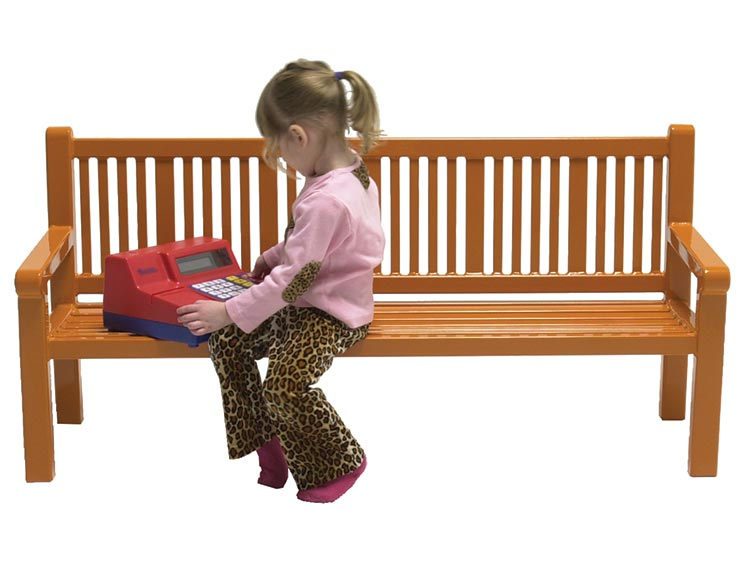 PUDDIN DRIPPINS READING BENCH WITH BACK