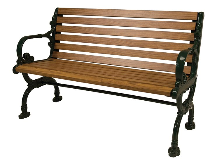 ROSEDALE BENCH WITH BACK
