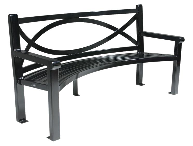 YUMA CURVED BENCH WITH BACK