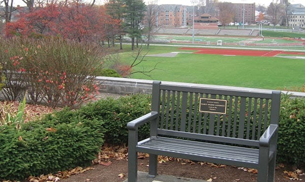 Bench with Plaque at Grove City College