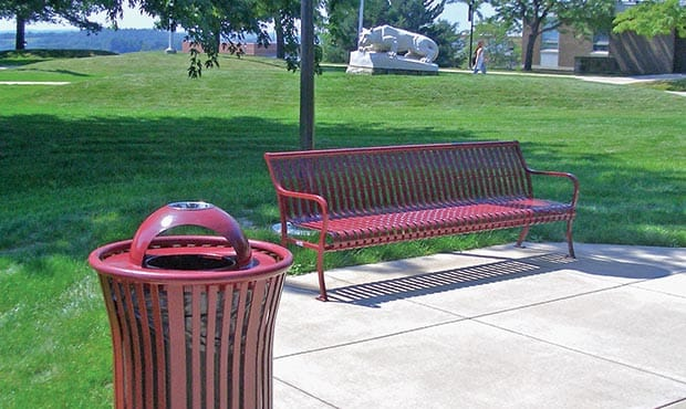 Bench and Litter on PSU campus