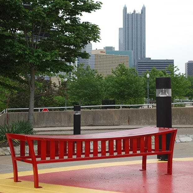 Exeter Bench at the Carnegie Science Center