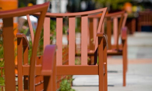 Exeter chairs down a street
