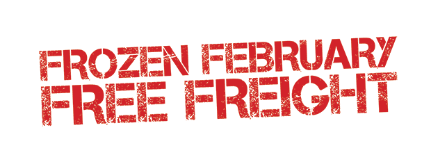 Frozen February Free Freight graphic