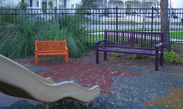 Reading benches for adults and children