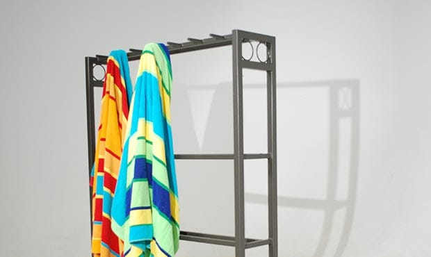 Custom Atlanta Towel Rack with towels