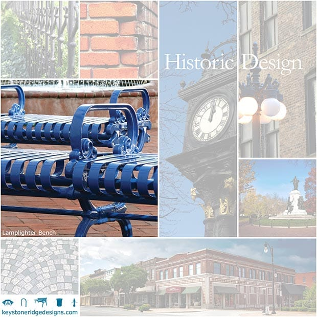 Historic Site Furniture Elements Collage