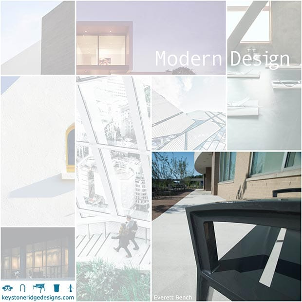 Modern Site Furniture Elements Collage