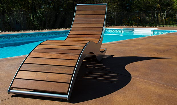 Loma Chaise Lounge with Ipe slats