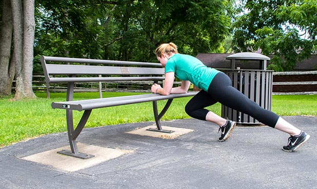 Mountain Climbers Exercise on a Penn Bench