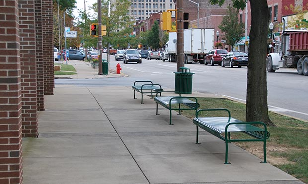 Pullman Flat Benches installed in Butler, Pennsylvania