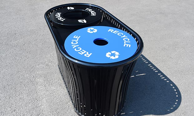 Harmony Dual Recycle and Litter Receptacle