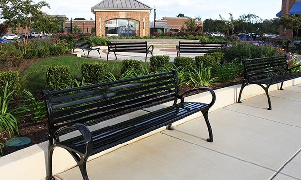 Schenley Benches in a retail environment