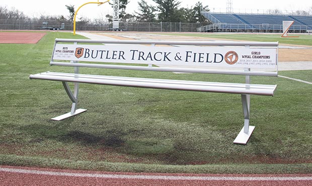 Penn Bench with Back and custom Track and Field artwork