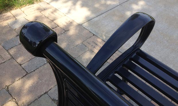Close up of Schenley Bench with Back