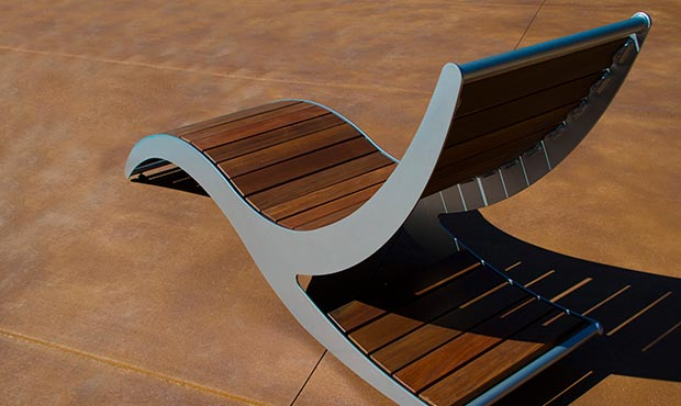 Loma Chaise Lounge provides an alternative form of seating