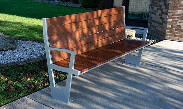 The ergonomic Creekview bench has turned heads