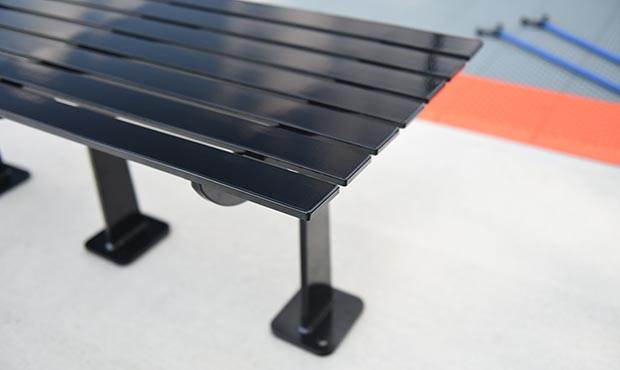 Carson flat benches offer minimalistic design