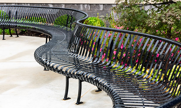 Benches can be customized to extend beyond standard lengths