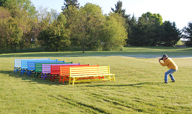 Keystone Ridge Designs Colored Benches