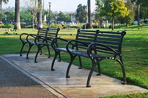 Schenley Benches with Back and Center Arms