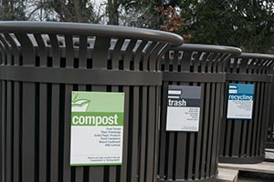 Compost Trash Recycling Signage