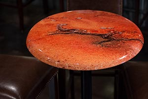 Contra bar table top with artistic Abstract Photography