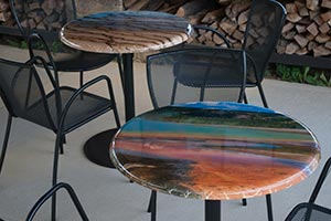 Contra table tops with artistic Landscape Photography