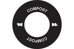 Standard compost decal on lid with icon