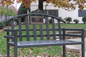 McConnell Bench with commemorative Plaque