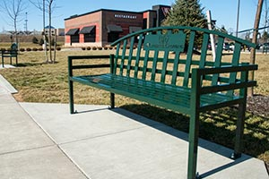 McCandless Crossing shopping center laser cut bench