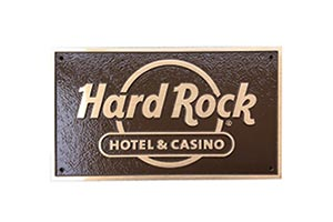 Hard Rock Cafe cast bronze plaque