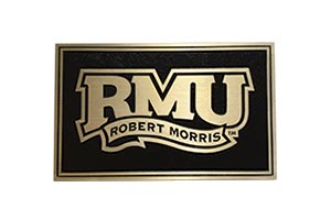 Robert Morris University cast bronze plaque