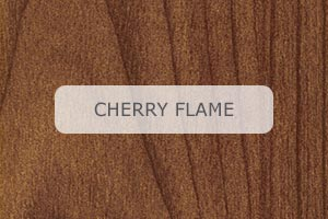 Wood Grain Aluminum Cherry Flame pattern