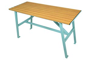 Wood Grain Aluminum Slats on Breakwater Harvest Table
