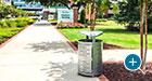Everett Litter Receptacles add a modern touch to college campuses
