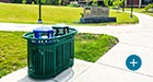 Midtown Dual Receptacles offer both waste disposal and simple recycling solutions