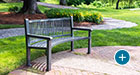Reading benches can be curved to match the custom radius of any walking path