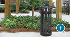 This Midtown Ash Receptacle offers quick and easy cigarette disposal