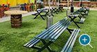 Breakwater Picnic Tables function well on their own or in tandem for larger gathering spaces