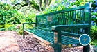 Reading benches with commemorative plaques can be found all over Brookgreen Gardens