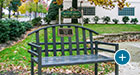 A public library uses a McConnell bench for a commemoration piece