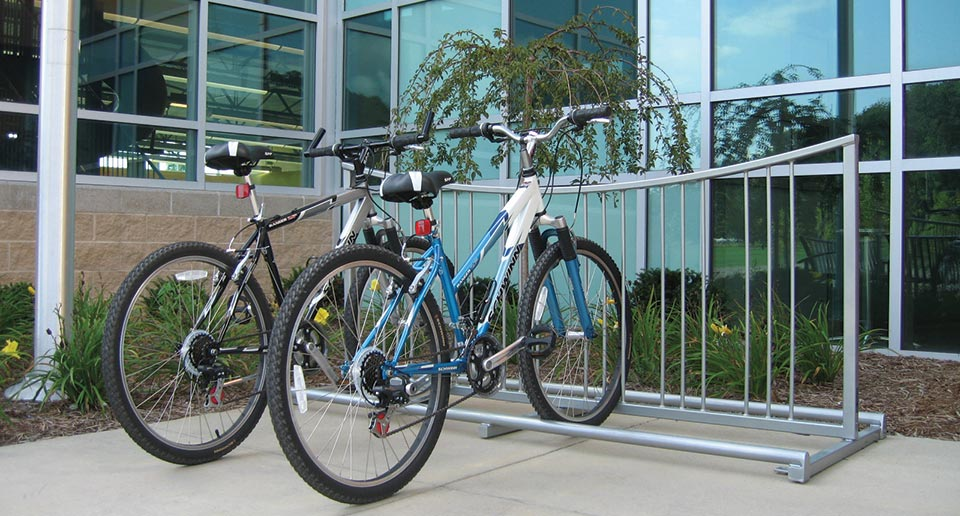 An Exeter Bike Rack allows commuting employees a place to park their ride
