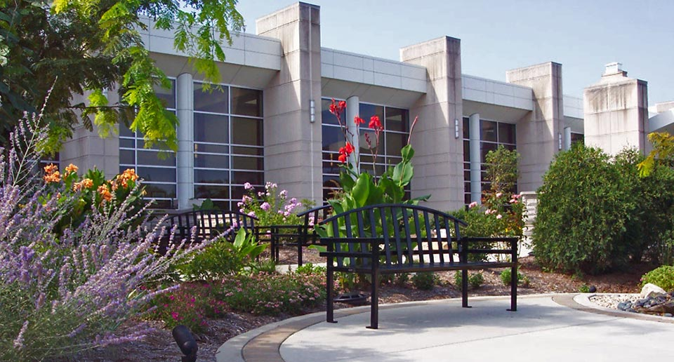 McConnell Benches with Back give co-workers a place to sit outside