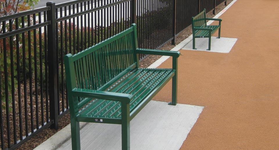 Reading Bench with Back and children's Reading Bench with Back side by side